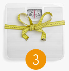 Lose weight through counting calories
